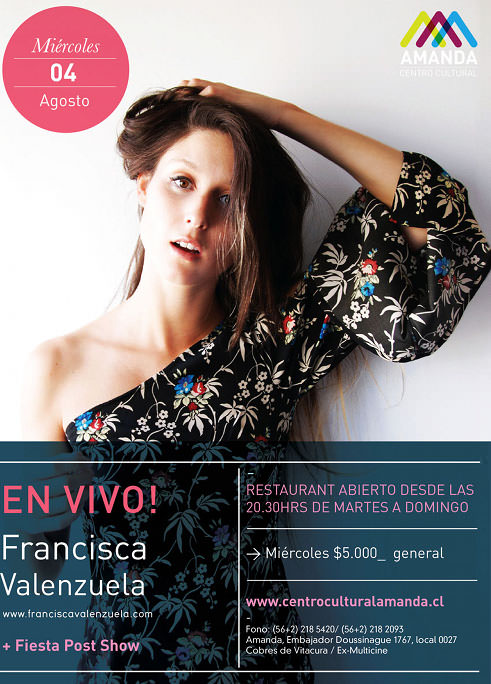 MIE/04/08 Francisca Valenzuela en vivo 1