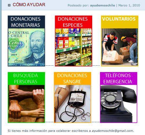 Ayudemos Chile: blog con datos 1