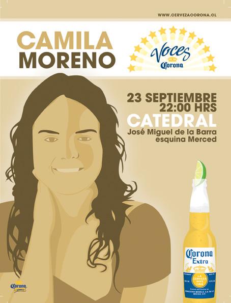 JUE/23/09 Camila Moreno en vivo 1