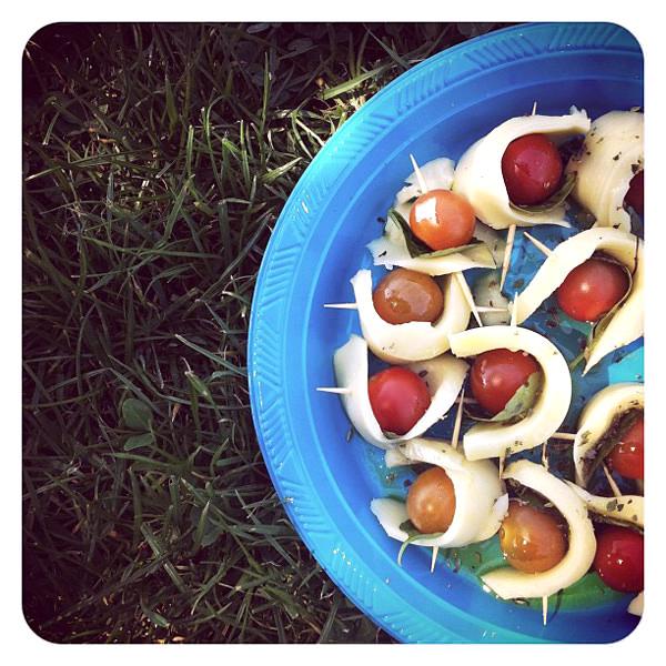 Picnic: Bocaditos de ensalada Caprese 1