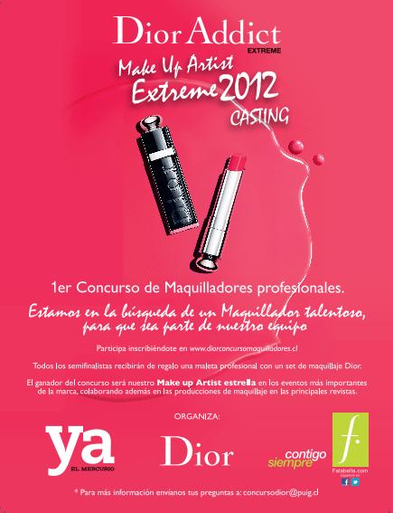 Dior Addict Make Up Artist Extreme 2012 . Casting. 1