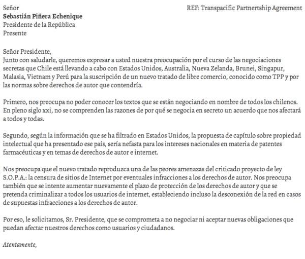 Ley SOPA en Chile: campaña para detener la negociación secreta 1