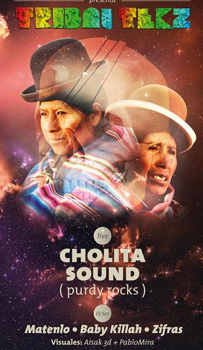 VIE/16/07 Tribal Tekz: Cholita Sound (Purdy Rocks) en vivo 1