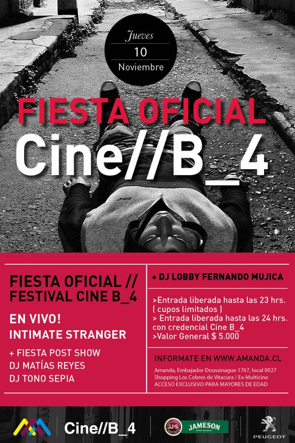 Fiesta oficial Cine// B_4 en Centro Cultural Amanda 1