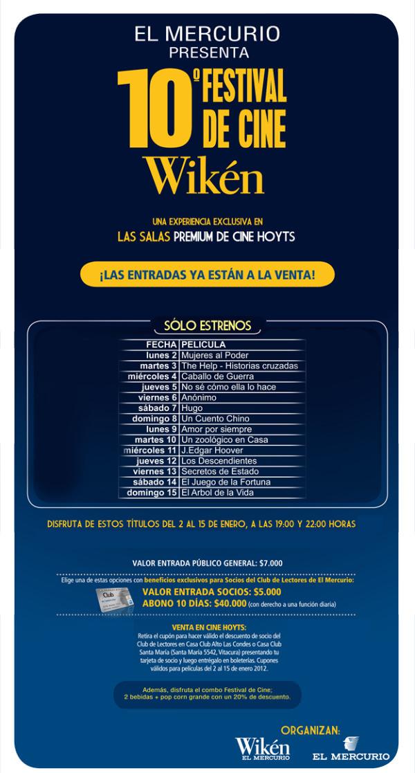 Festival de Cine Wikén 2012: estrenos y chao aire libre 2
