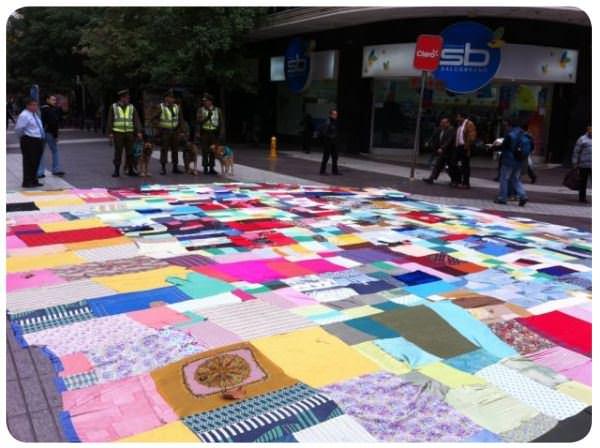 Cosas que me gusta hacer porque sí III: una alfombra en el paseo peatonal 1