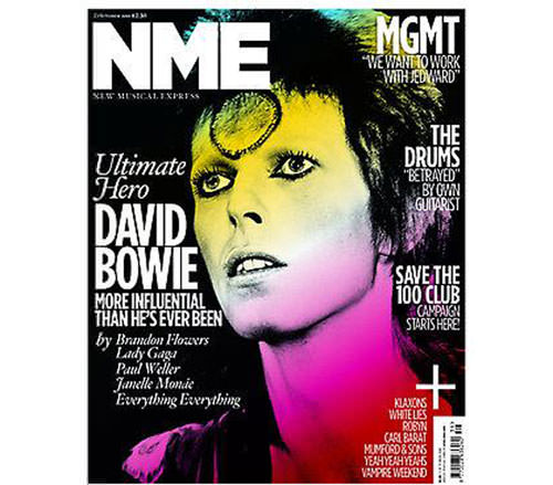 David Bowie en la portada de NME 1