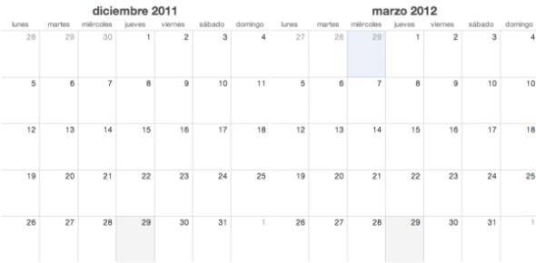Marzo versus diciembre 1