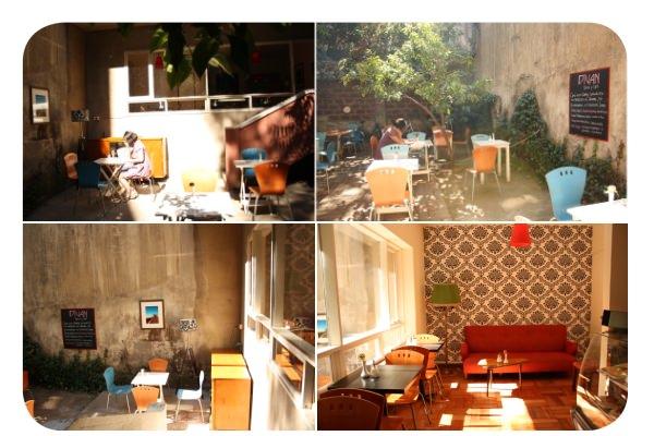 <em>Diván, patio y café</em> en Lastarria 2