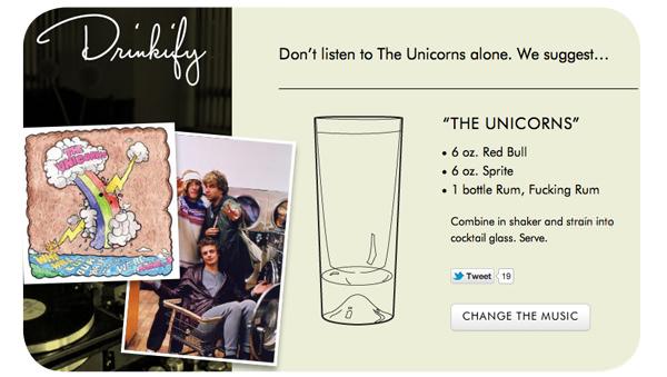 Música y alcohol: Drinkify 1