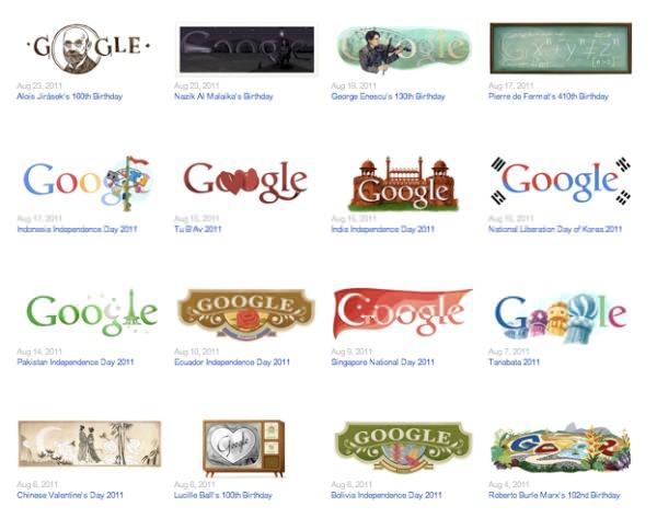 Los doodles del 2011 1