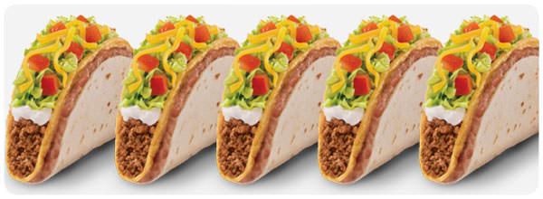 Tacos Double Decker, dos pisos de tortillas 1