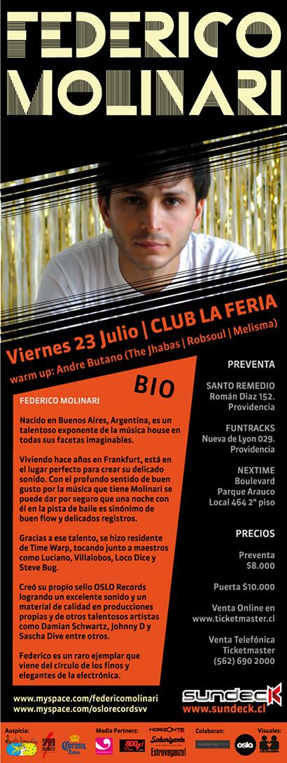 VIE/23/07 Federico Molinari en Club La Feria 1