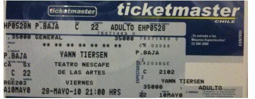 Yann Tiersen en Chile: apúrense! 1