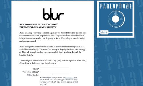 Fool's Day, la nueva canción de Blur para descargar legalmente 1