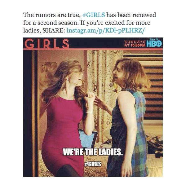 Girls confirmó segunda temporada! 1