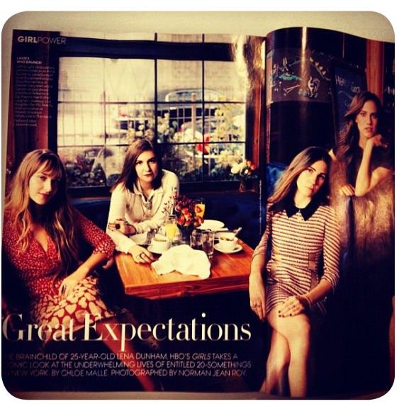 Girls en la revista Vogue 1