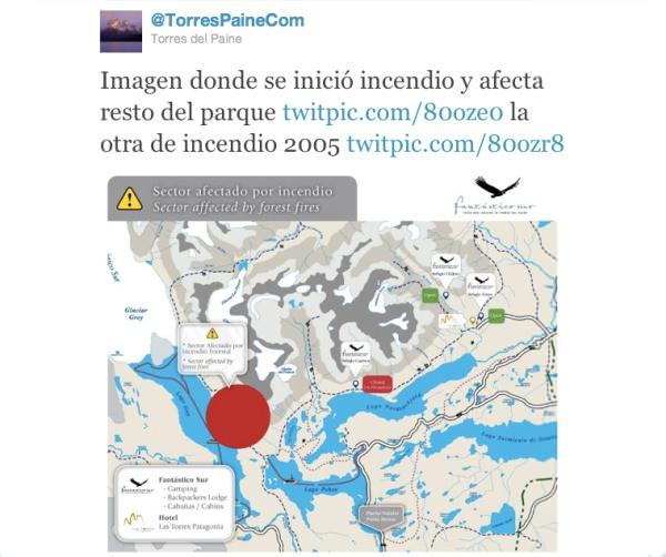 Las tristes consecuencias del incendio en Torres del Paine 1
