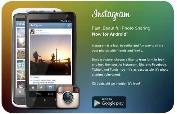Instagram, ahora en Android 1