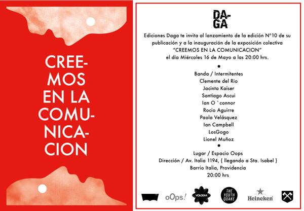 Exposición Colectiva 'Creemos en Comunicación', Ediciones Daga 1