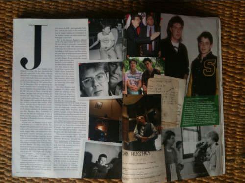 Los cuadernos de John Hughes en Vanity Fair 3