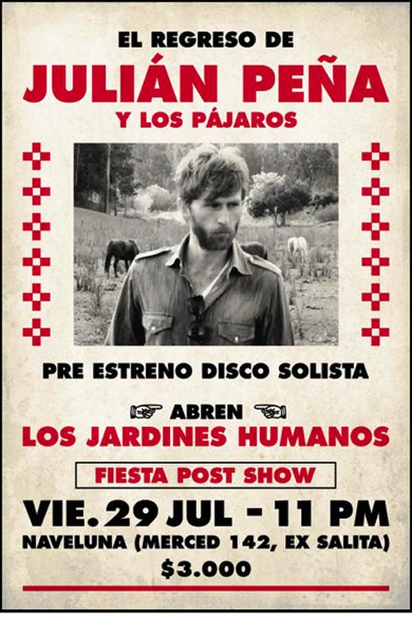 El regreso de Julián Peña (telonea Los Jardines Humanos) 1