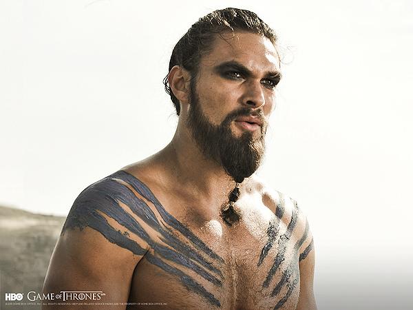 Jason Momoa (Khal Drogo, en Game Of Thrones): mino 1
