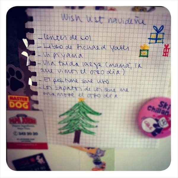 la lista de regalos para navidad zancada lo que