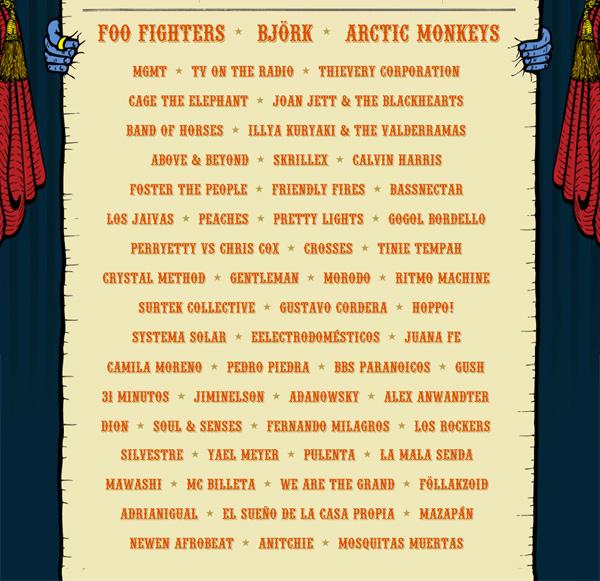 Lineup oficial de Lollapalooza Chile 2012, qué tal? 1