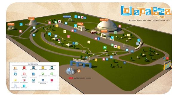 Horarios y escenarios de Lollapalooza 2012 1