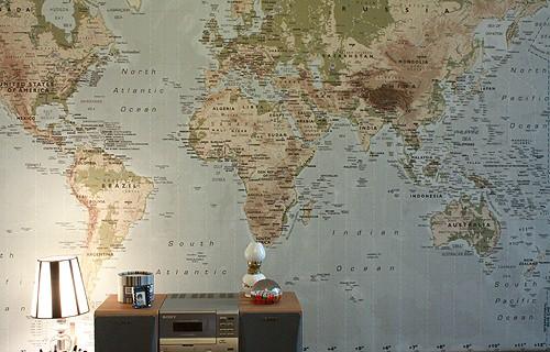 Simple idea de decoraci n mapamundi zancada lo que - Mapamundi pared ikea ...