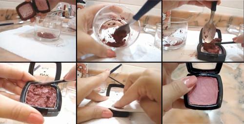 Cómo recuperar maquillajes quebrados 1