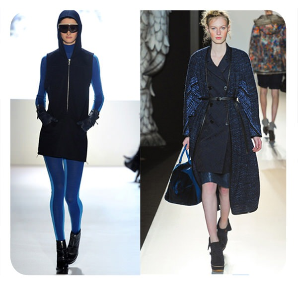 Tendencias del NYFW 2012: combinar azul con negro 1