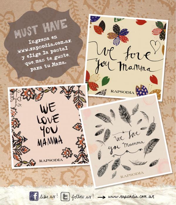 Postales de Rapsodia para el día de la madre 1