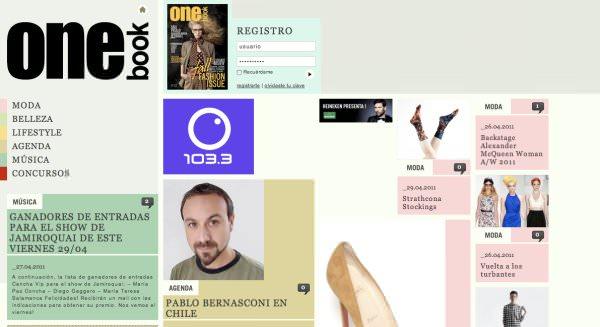La versión web de la revista OneBook 1