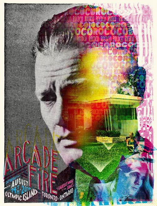 Los afiches de la gira de Arcade Fire 1