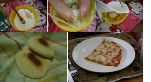 Pan amasado y masa de pizza: la receta 1