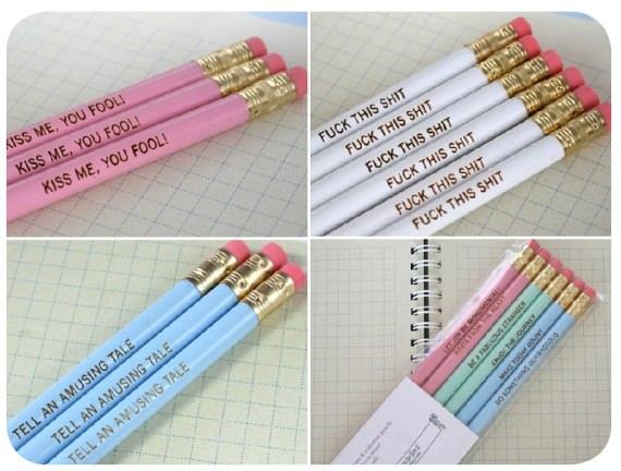 Objeto de deseo: lápices con mensajes 1