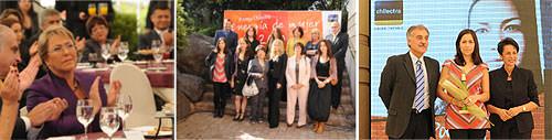 Nuestra Paty Leiva (y Michelle Bachelet!) en la premiación Energía de Mujer 2010 3