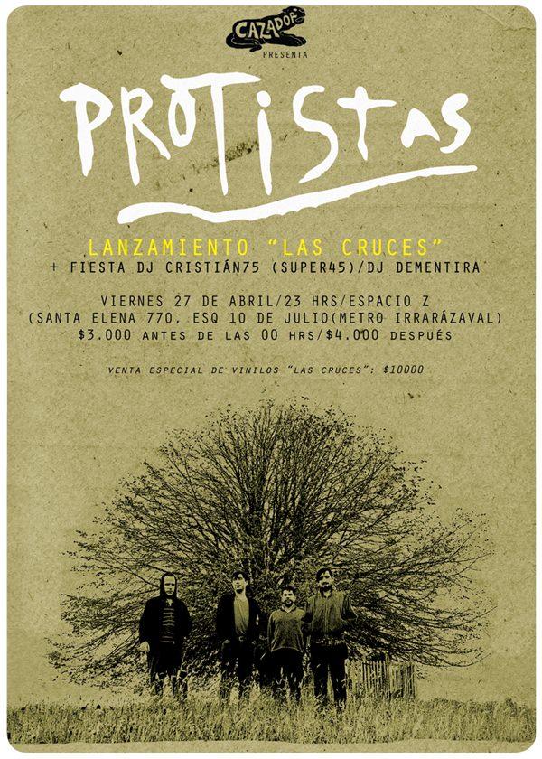 """Hoy: lanzamiento del disco """"Las Cruces"""" de Protistas 1"""