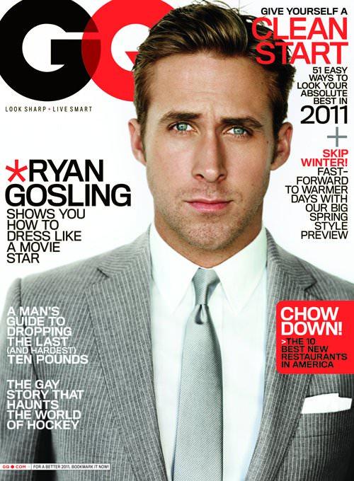Ryan Gosling en la revista GQ: mino 1