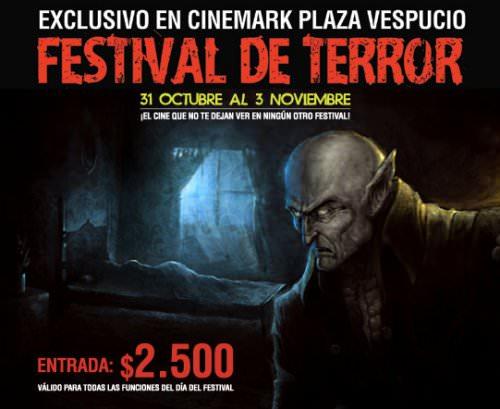 Festival de cine de terror en Cinemark Plaza Vespucio 1