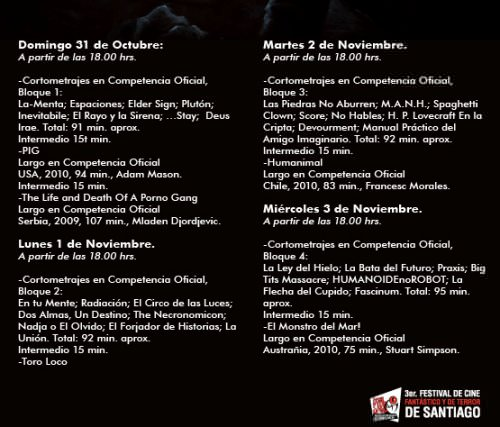 Festival de cine de terror en Cinemark Plaza Vespucio 2