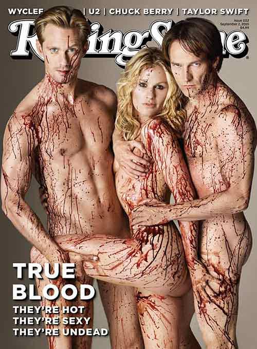True Blood: Sookie, Bill y Eric en la portada de Rolling Stone 1