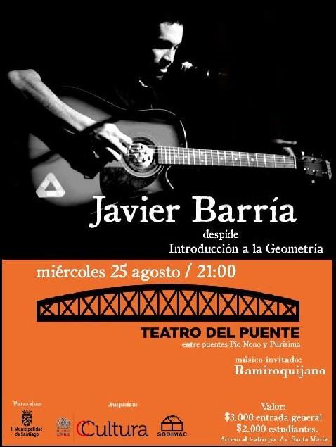 MIE/25/08 Javier Barría en vivo 1