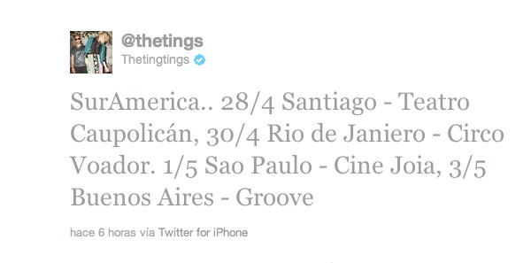 The Ting Tings en Chile el 28 de abril! 2