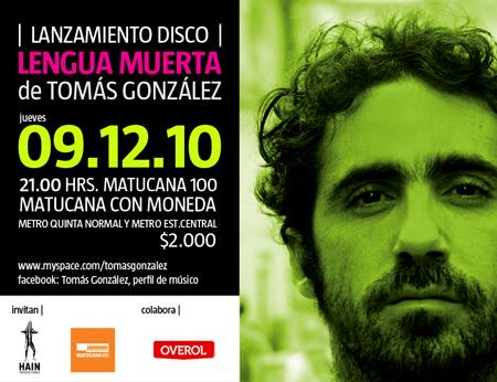 JUE/09/12 Tomás González en vivo 1