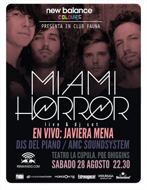 Miami Horror en Santiago este sábado 1
