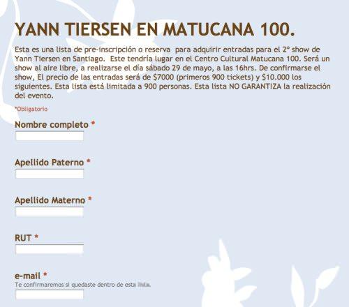 Yann Tiersen en Chile: inscríbete para el (posible) segundo concierto en Santiago! 1