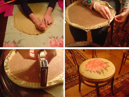 Tapizar sillas h galo usted mismo zancada lo que - Materiales para tapizar ...